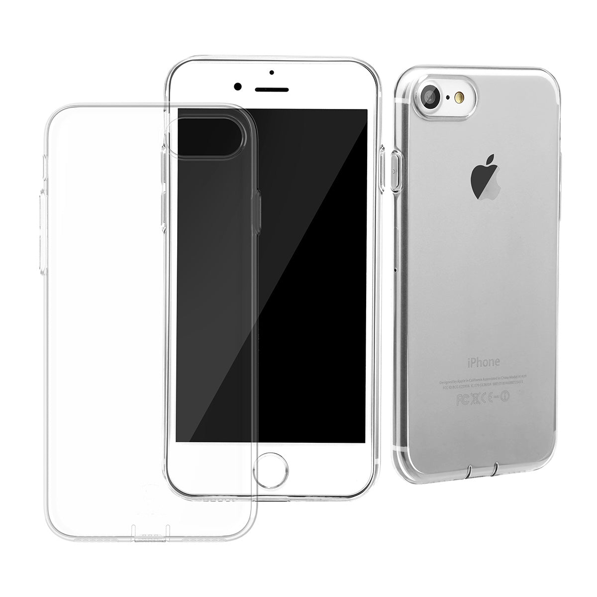 Ultra Slim Clear Transparent iPhone 7 Plus 5.5 inch Case with dust-proof plug
