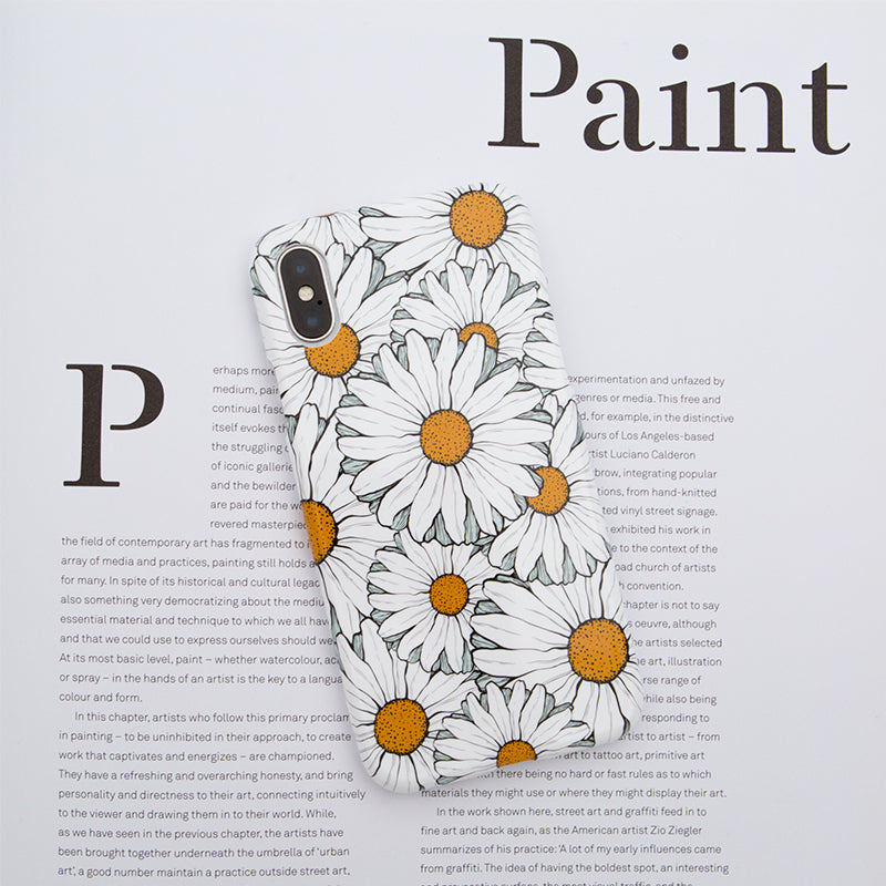 Chrysanthemum flower pattern soft TPU silicon iPhone XS Case 5.8""