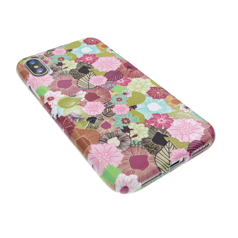 Leaf and flower pattern soft TPU silicon iPhone X case