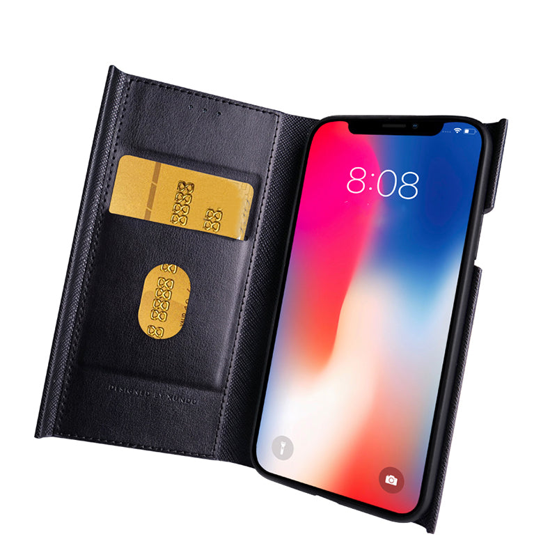 Super Slim Business style flip wallet designed leather iPhone X 10 Case