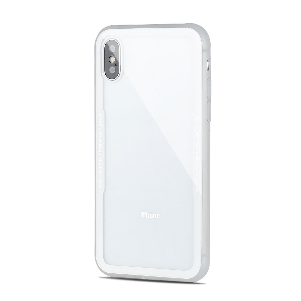 Tempered Glass Colourful Transparent Iphone X Case