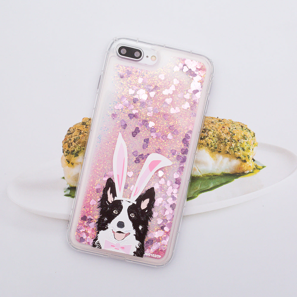 Glitter liquid shinning cute dog pattern iPhone 7 Plus Case 5.5 inch