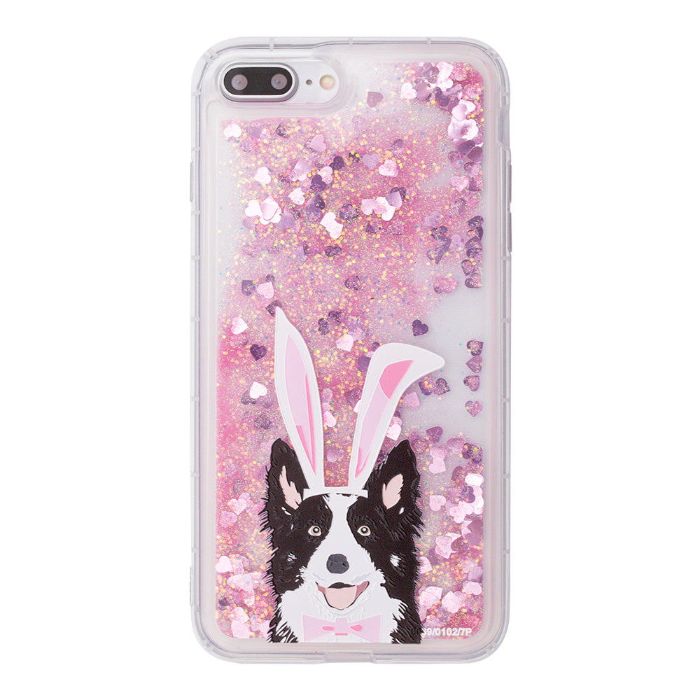 Glitter liquid shinning cute dog pattern iPhone 8 Plus Case 5.5 inch