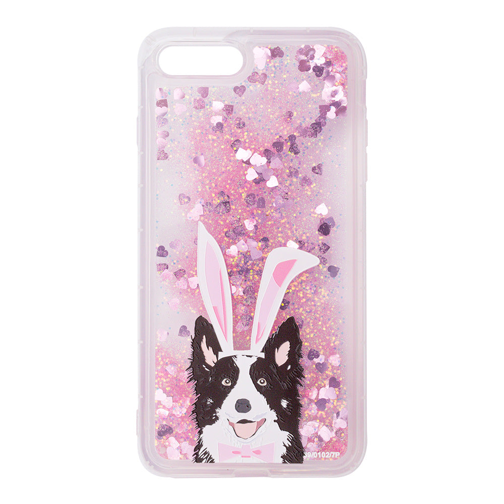 Glitter liquid shinning cute dog pattern iPhone 8 Case 4.7 inch