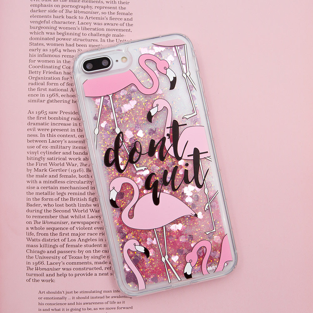 Glitter liquid shinning flamingo pattern iPhone 8+ Plus Case 5.5 inch