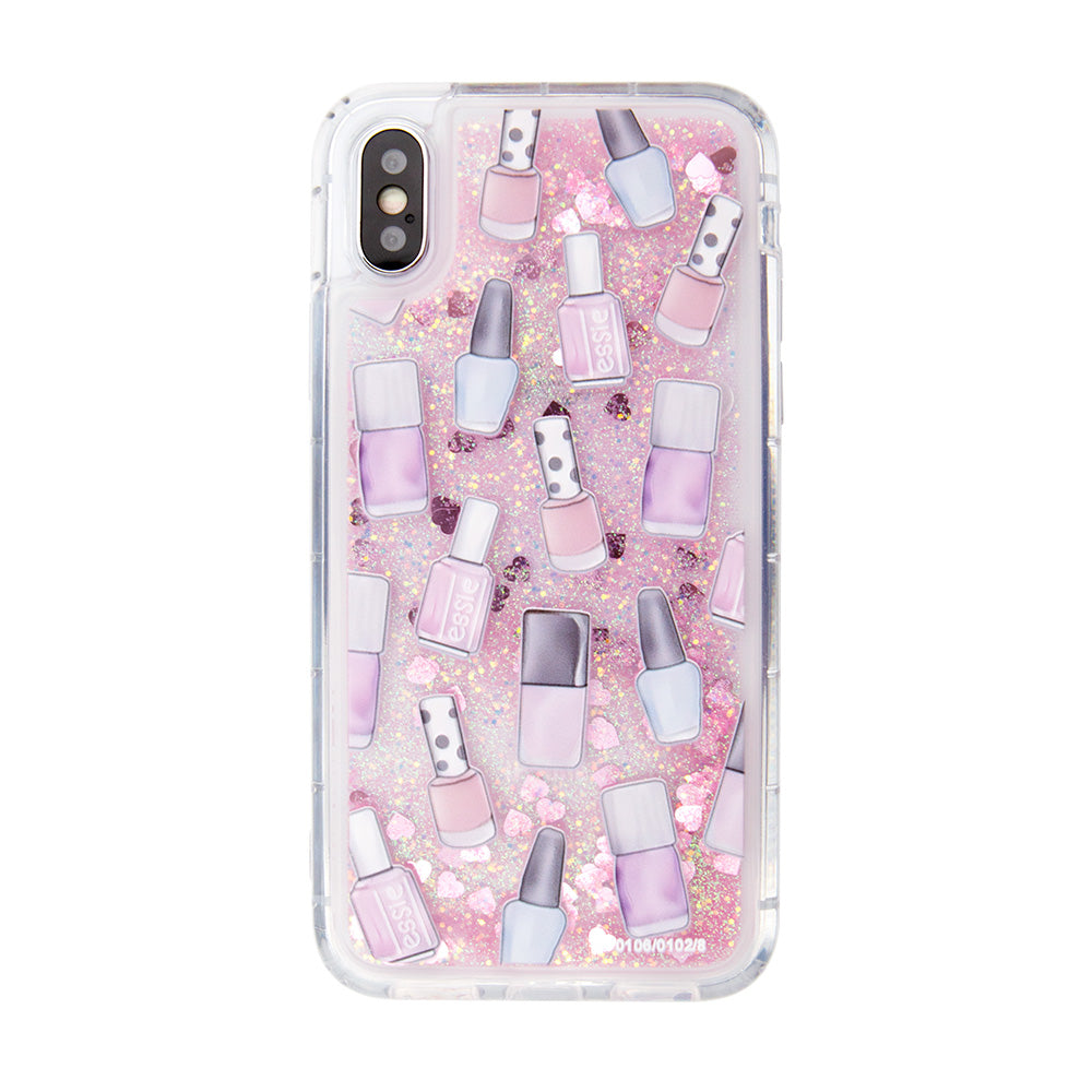 Glitter liquid shinning cosmetics pattern iPhone X 10 Case