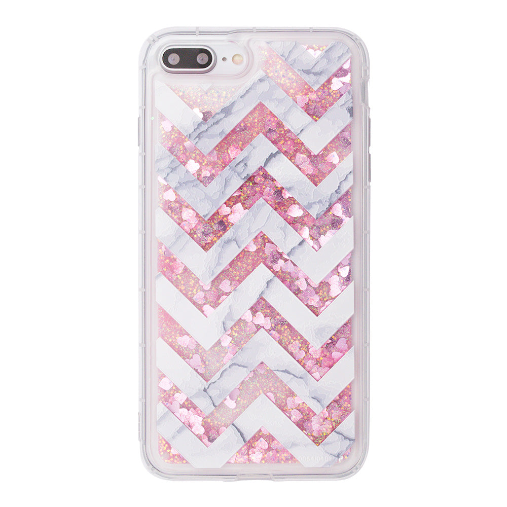 Glitter liquid shinning fashion strips pattern iPhone 8 Plus 5.5' Case