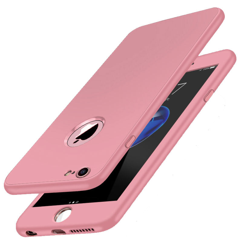 Front and back full protection soft TPU silicone iPhone 8 Plus Case