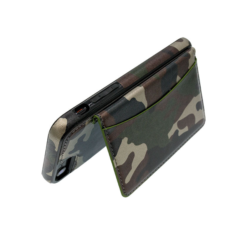 big sale 91a26 22f70 Camouflage leather wallet card slots stand iPhone 6/6s Plus Cover Case