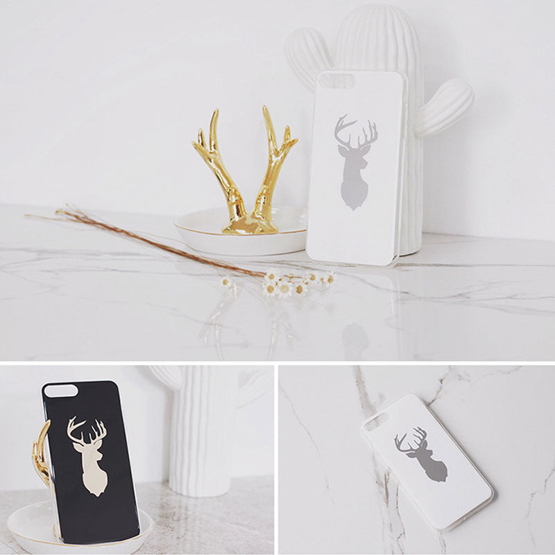 Fashion design deer slim soft TPU silicone iPhone 8 Plus case