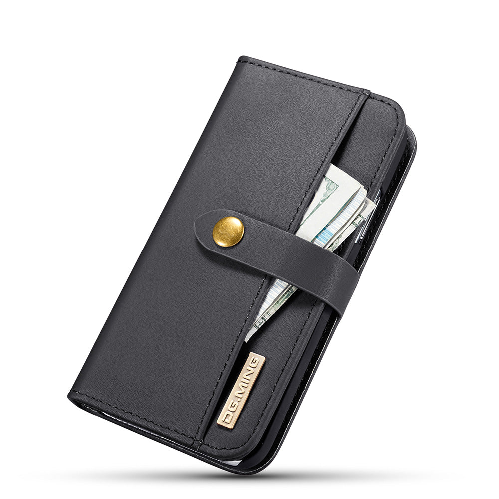 Lambskin leather magnet detachable wallet iPhone X Case 5.8""