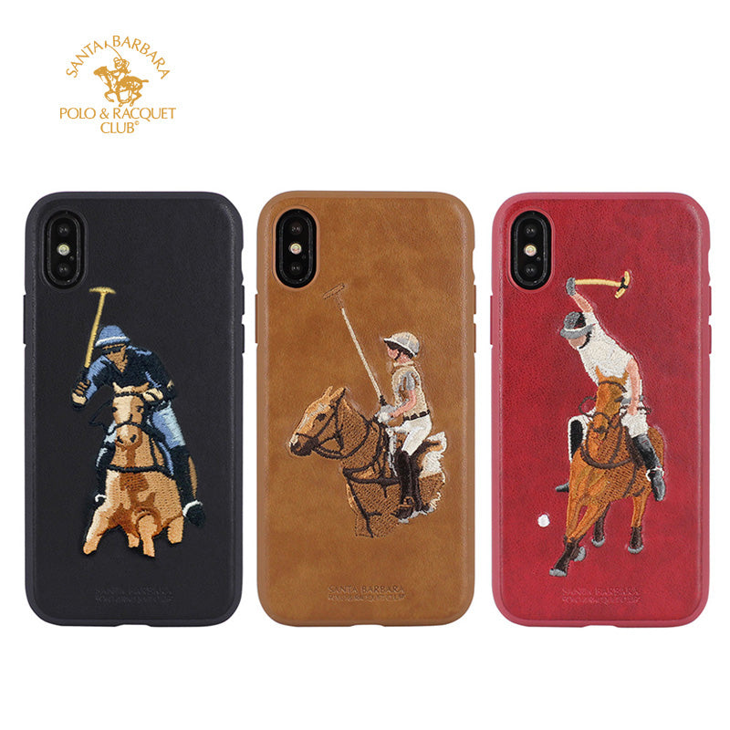 best service b514f c2bc9 Polo embroidery leather fashion slim iPhone Xs Max Case 6.5