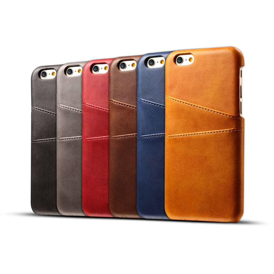Genuine leather case with back card slots iPhone 6 6s case