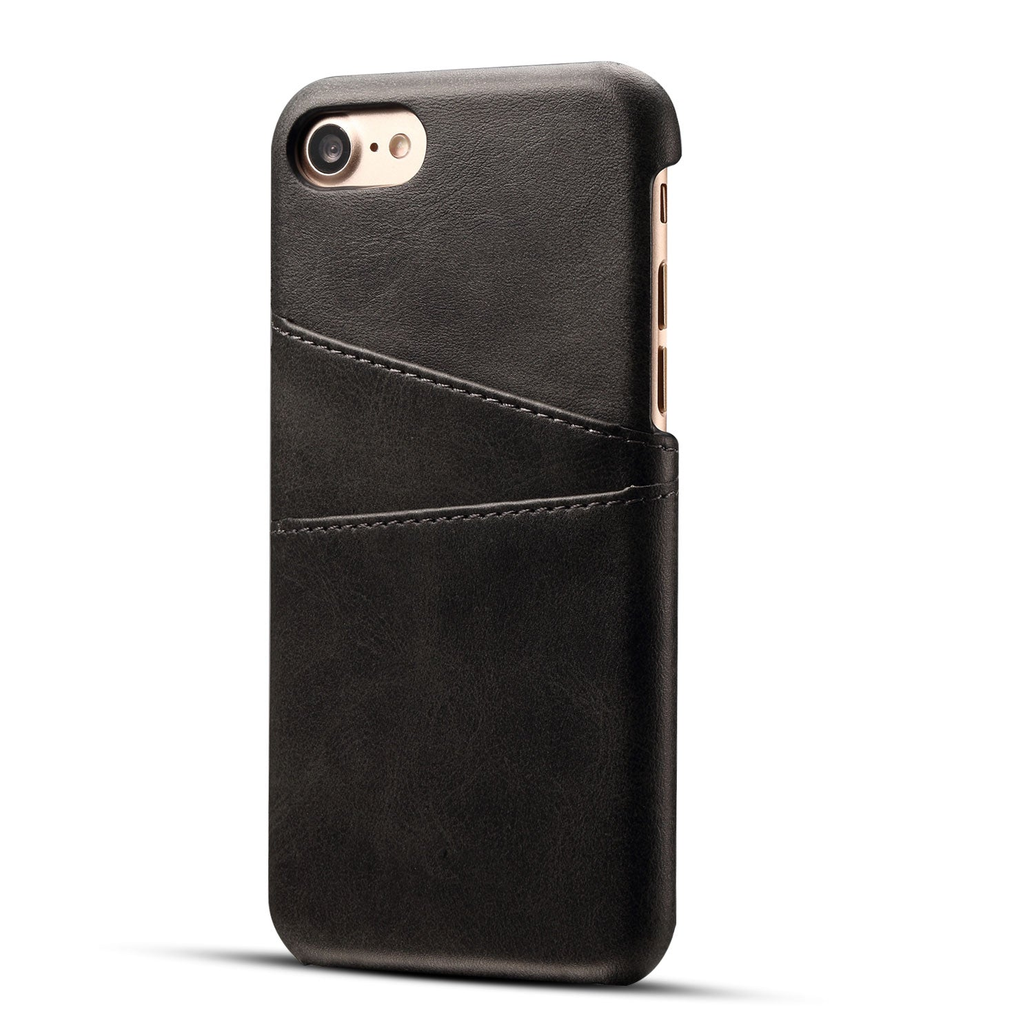 Genuine leather case with back card slots iPhone 7 case cover