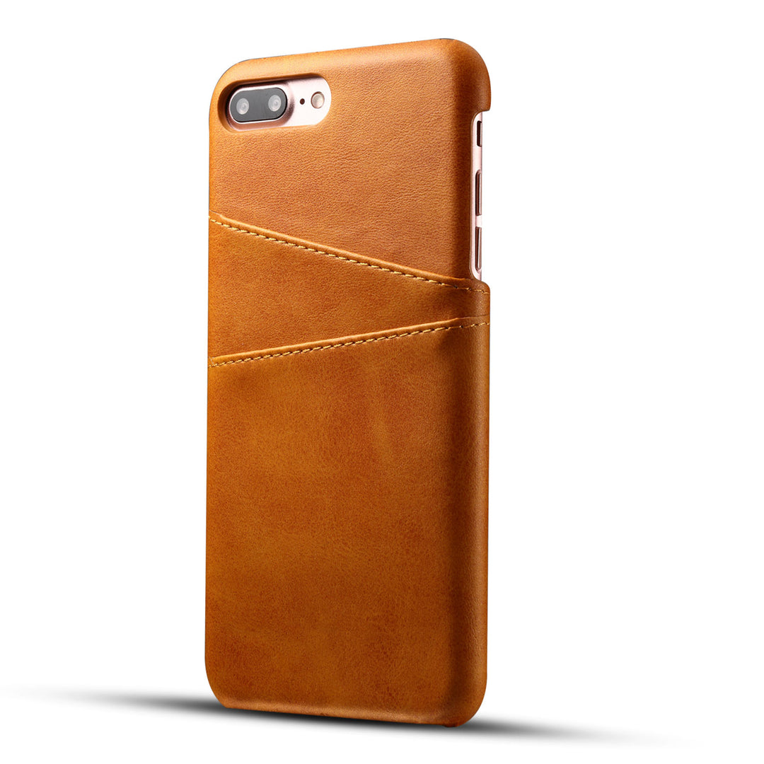 Genuine leather case with back card slots iPhone 8 Plus case cover