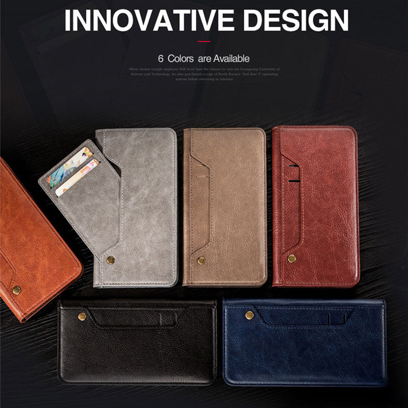 Genuine leather turnable card slots iPhone 6 6s wallet case