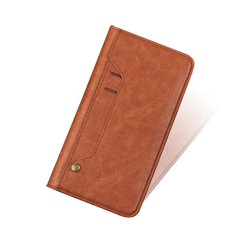 Genuine leather turnable card slots iPhone X wallet case