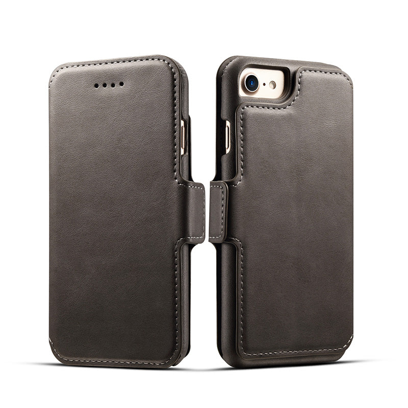 3 in 1 functional real leather separable magnet flip iPhone 7 Case