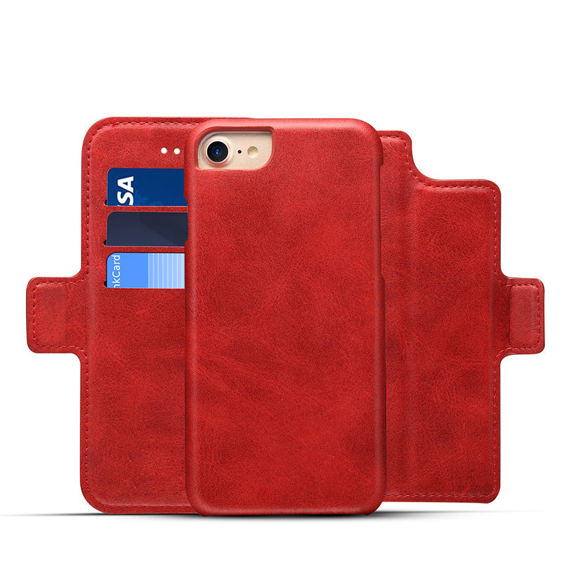 3 in 1 functional real leather separable magnet flip iPhone 6/6s Case