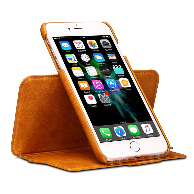 3 in 1 functional real leather separable magnet flip iPhone 8 Plus Case