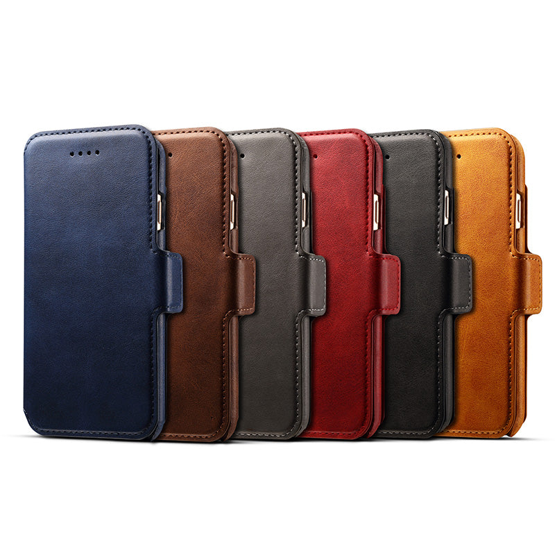 3 in 1 functional real leather separable magnet flip iPhone 7 Plus Case