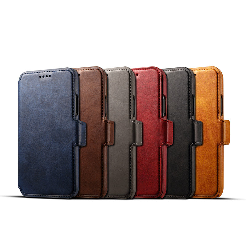 3 in 1 functional real leather separable magnet flip iPhone X/10 Case