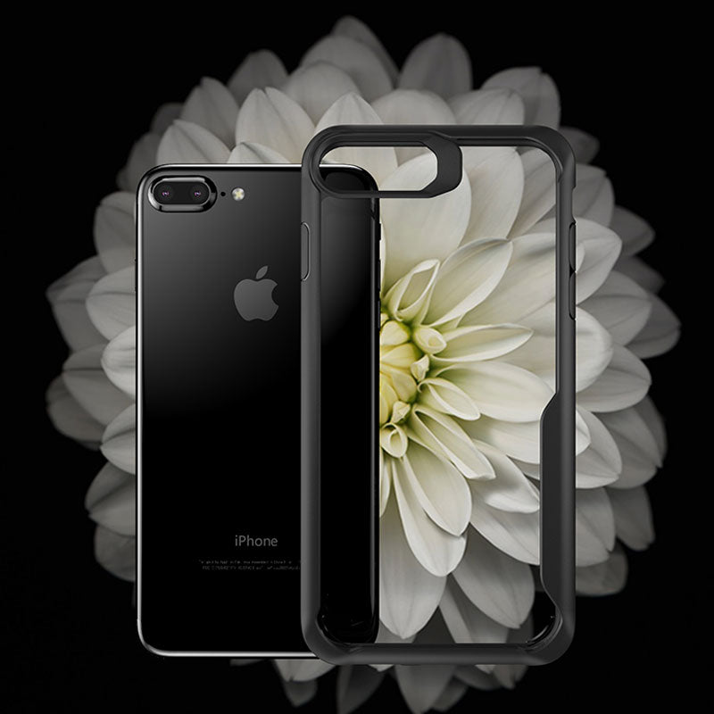 Clear soft TPU with colourful bumper protect iPhone 7 Plus case cover