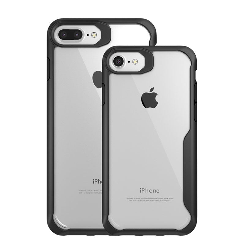 Clear soft TPU with colourful bumper protect iPhone 8 Plus case cover