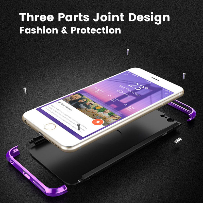 Colorful Fashion Metal Heavy Duty Full Protection iPhone 6/6s Case