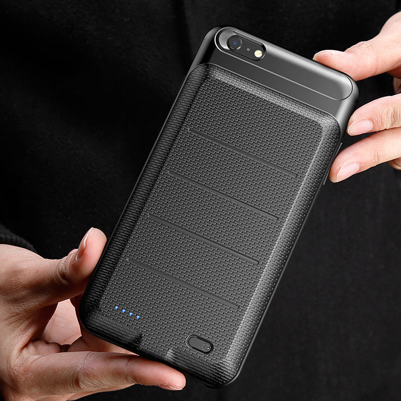 Fashion ultra slim battery power bank with earphone support iPhone 7 4.7' Case