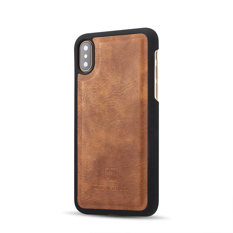 Genuine leather separable flip with magnet clasp iPhone XS Case 5.8""