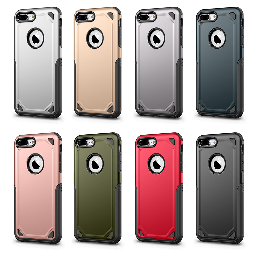 Colourful heavy duty two parts joint iPhone 7+ Plus case