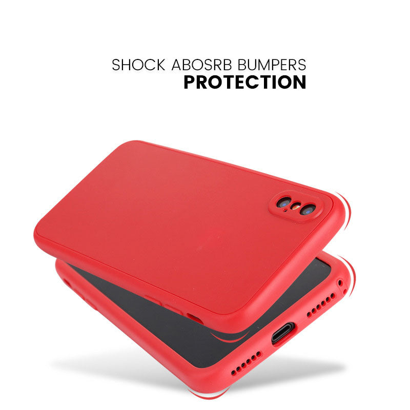 Front and back full protection soft TPU silicone iPhone XS Case 5.8""