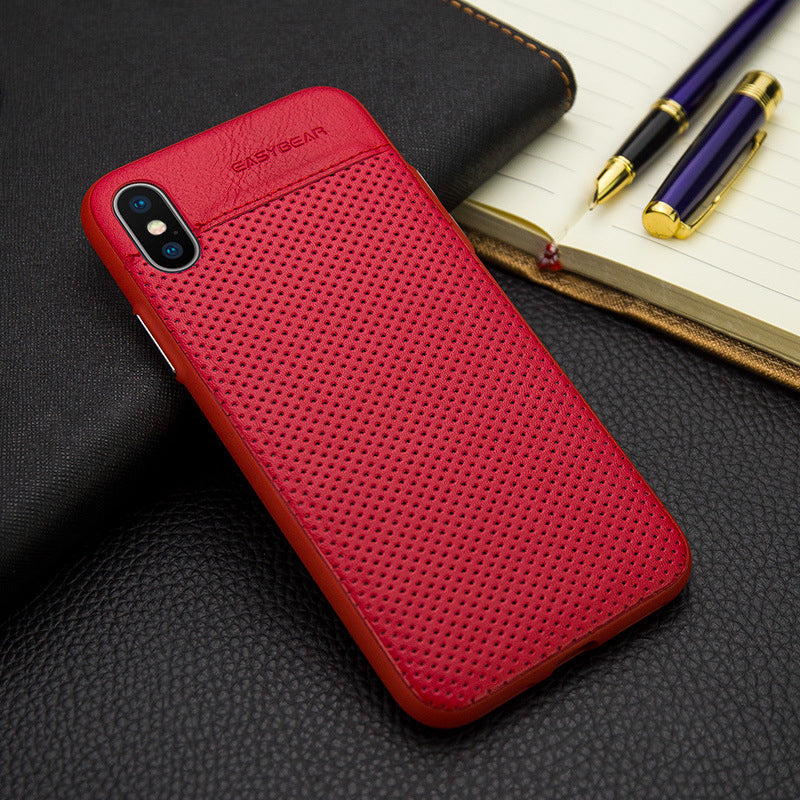 "Leather business style breathe freely iPhone XS Case 5.8"" cover"