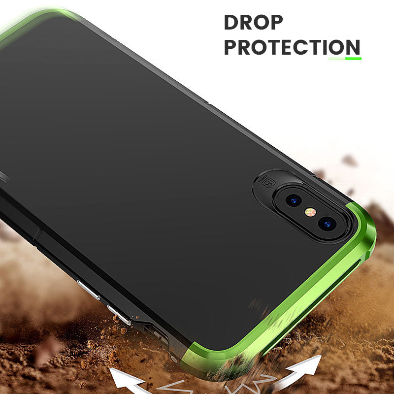 Colorful Fashion Metal Heavy Duty Full Protection iPhone XS Case 5.8""