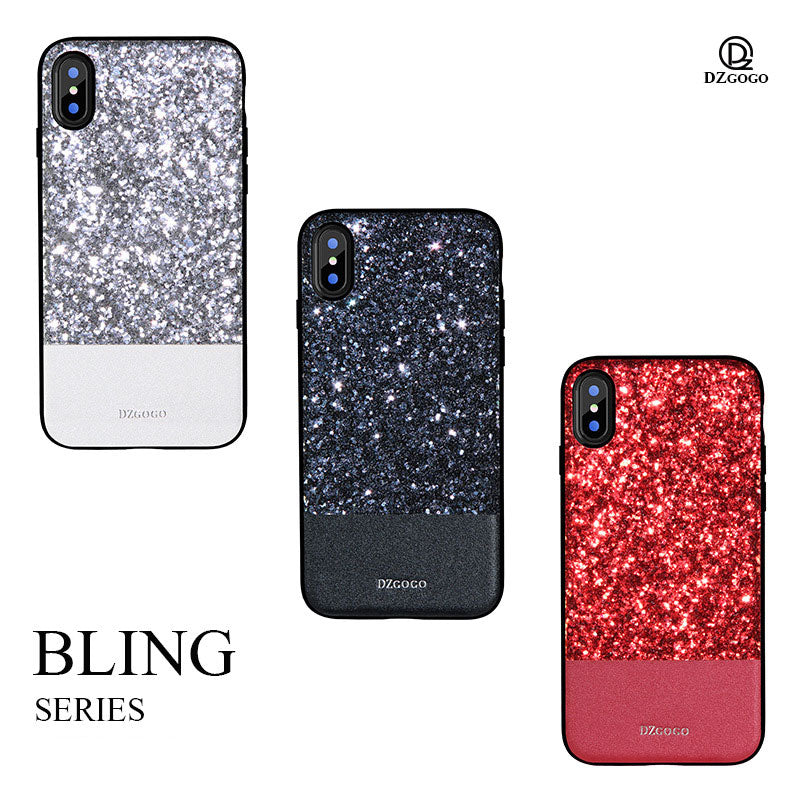 Bling Series glitter shine fashion sparkling iPhone XS Case 5.8""