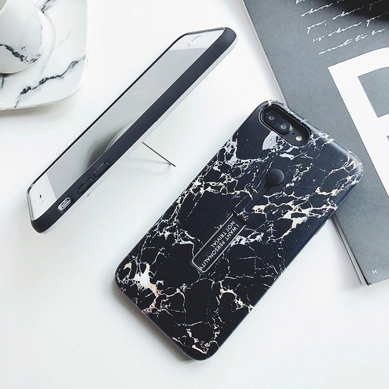 Smart kickstand ring marble pattern iPhone X 10 Case