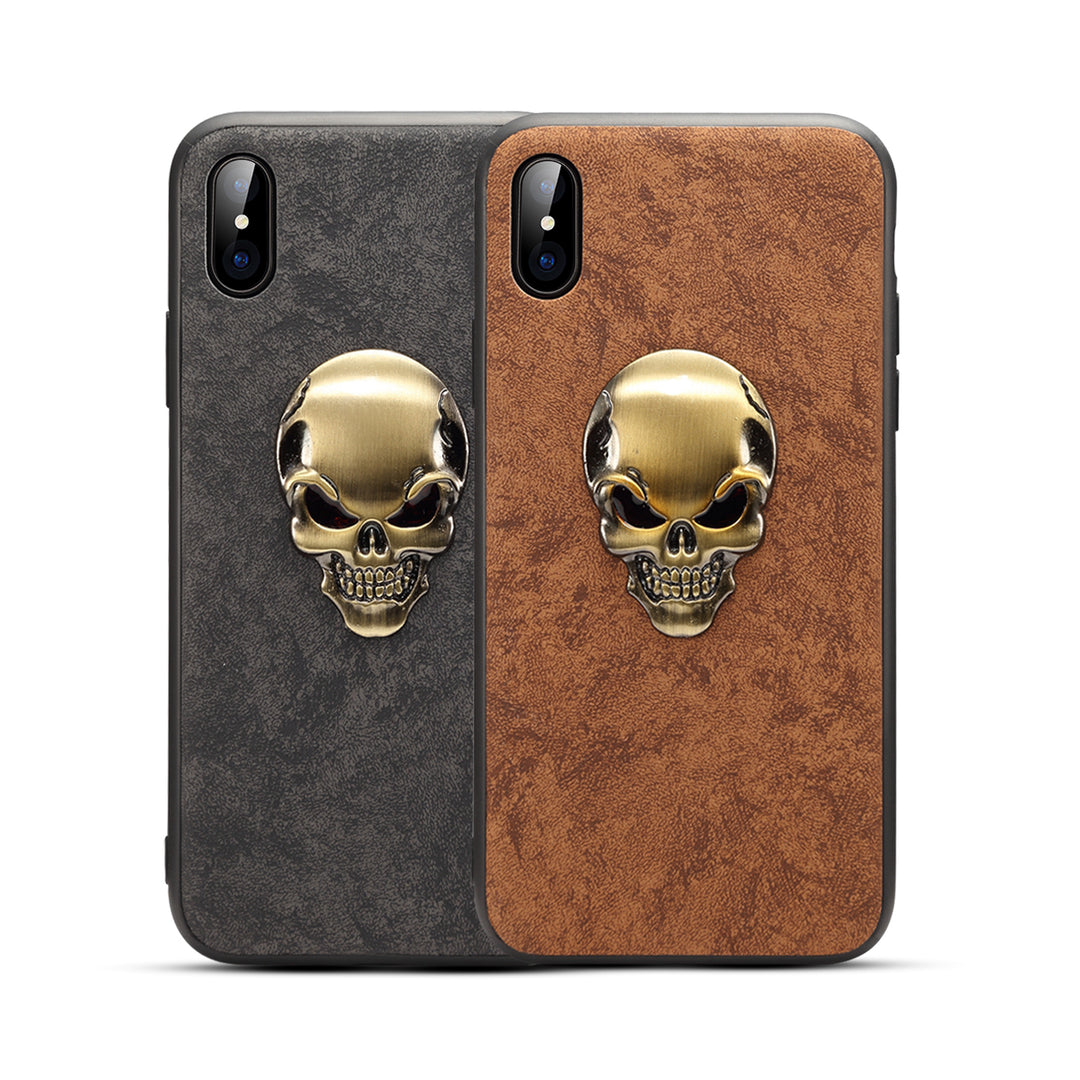 Cool Cooper Skull pattern fibre material iPhone XS Case 5.8""