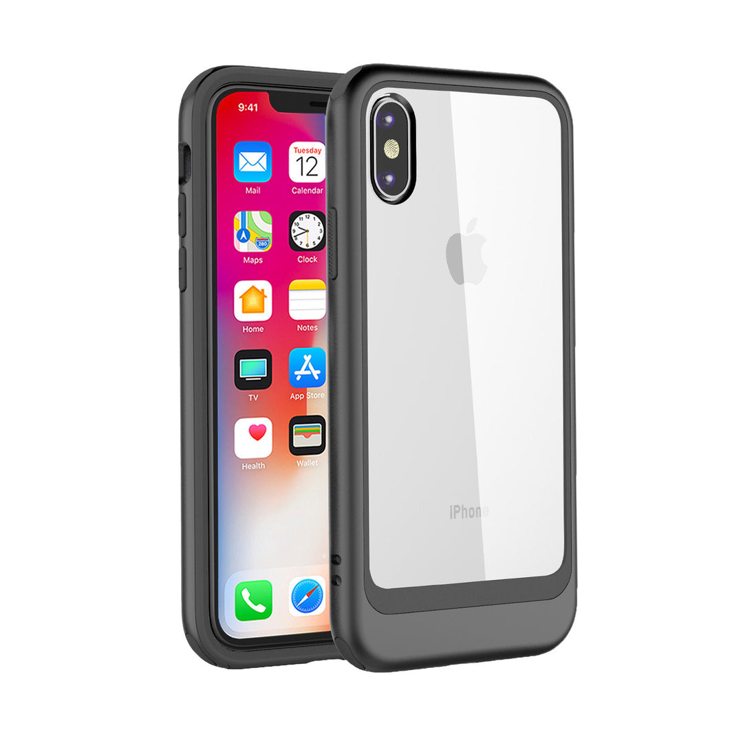 Fashion transparent PC back with colourful bumper slim iPhone X 10 Case