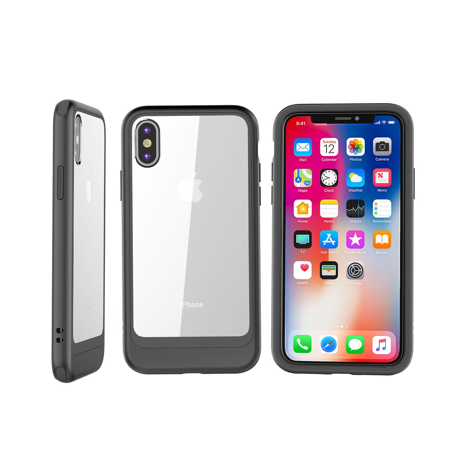 Super Popular 4615d 58bb0 Fashion Iphone Xs X Phone Case 1 Wp 7 Plus Cafele Tpu Soft Silicone Casing Cases Cover Outlet Store 79a68 F77a1 Transparent Pc Back With Colourful Bumper Slim 58