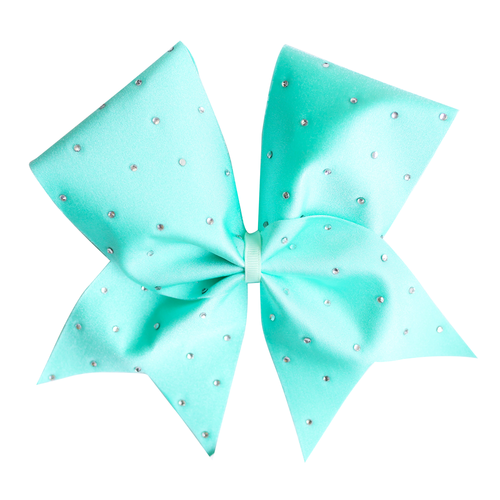 Mint Bling Cheer Bow
