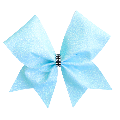 Pastel Blue Glitter Cheer Bow