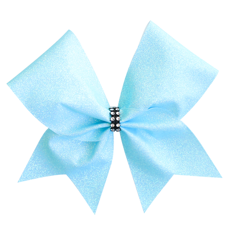 Purple/Aqua Customised Glitter Cheer Bow