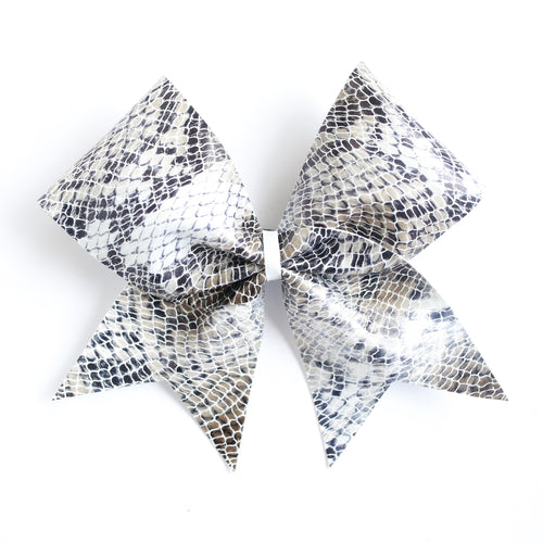 Black White Scale Cheer Bow