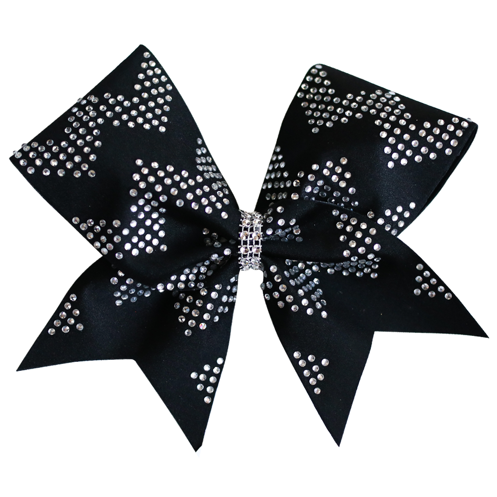 Black Chevron Blinged Cheer Bow