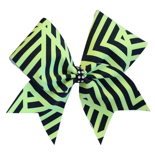 Lime Maze Cheer Bow