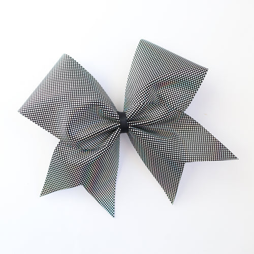 Black Reflective Cheer Bow
