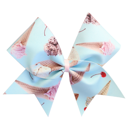 Blue Ice Creams Cheer Bow