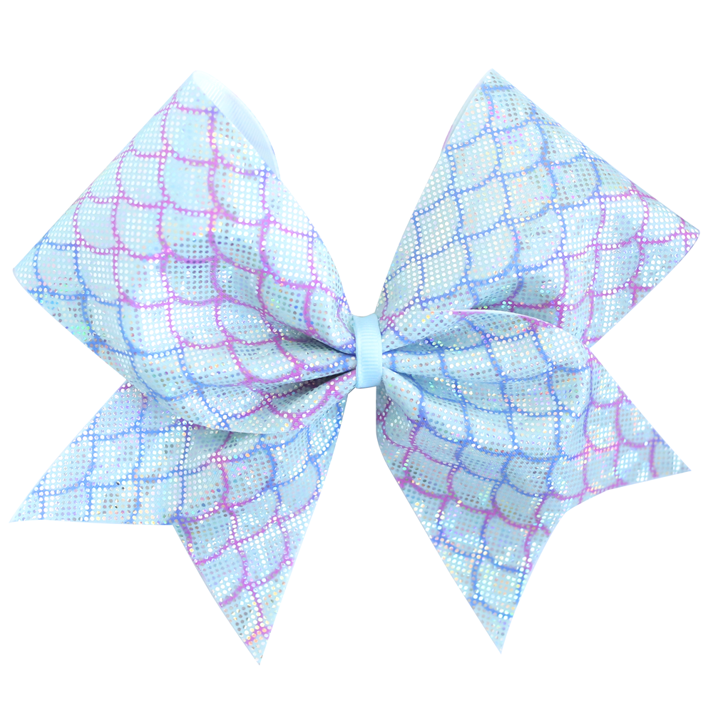 Blue Mermaid Cheer Bow