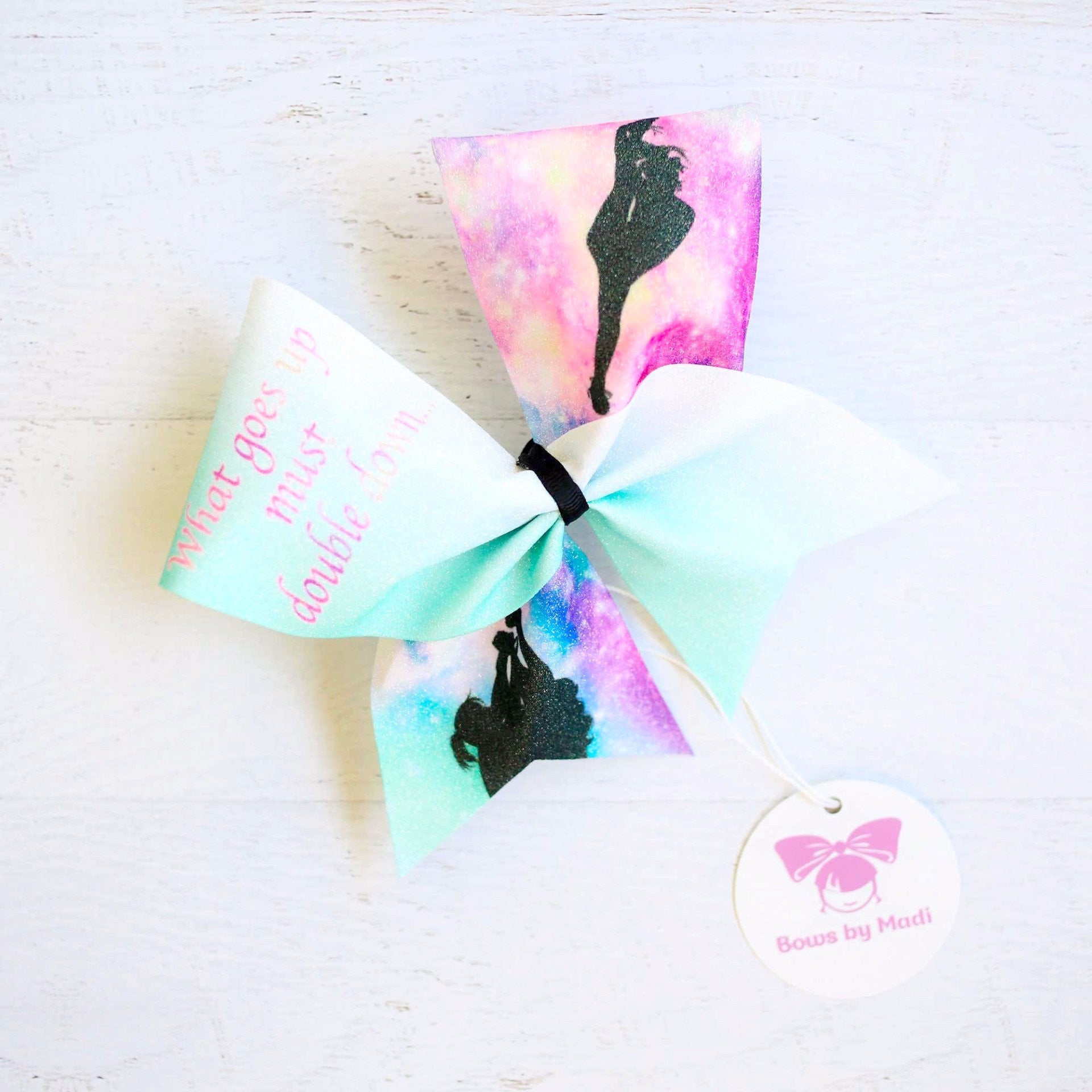 Double Down Glitter Cheer Bow